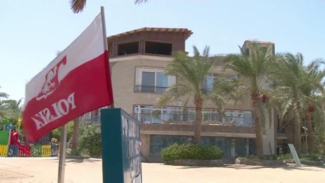 polish flag in hurghada - hurghada stock-videos und b-roll-filmmaterial