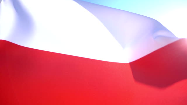 polish flag - eastern european culture stock videos & royalty-free footage