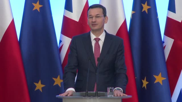 stockvideo's en b-roll-footage met polish prime minister mateusz morawiecki believes poland can manage to convince the eu that the justice system needs deep reforms after the european... - artikel