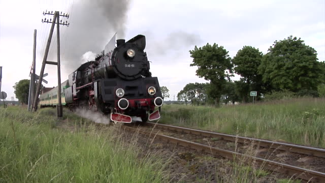 polish steam train - locomotive stock videos & royalty-free footage