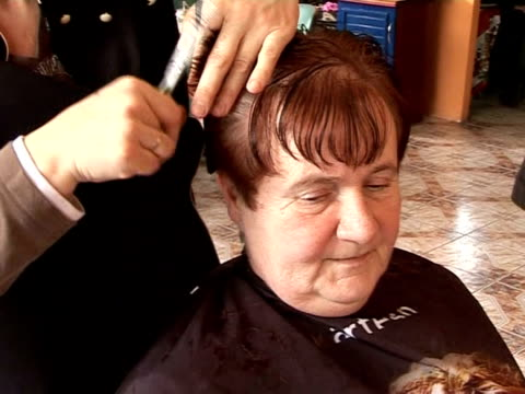 polish village on the german border has set itself up as a haven for hairdressers. - big hair stock videos & royalty-free footage