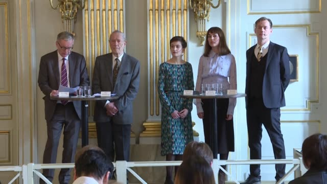polish writer olga tokarczuk wins the 2018 nobel literature prize which was delayed over a sexual harassment scandal while austrian novelist and... - literature stock videos & royalty-free footage