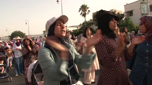 political activists staged street protests in 15 towns across morocco to voice their opposition to constitutional reforms proposed by the king and... - campaigner stock videos & royalty-free footage