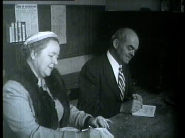 political candidates, their wives, and wthers voting in the primary election in chicago on april 13, 1954. - 1954 stock videos & royalty-free footage
