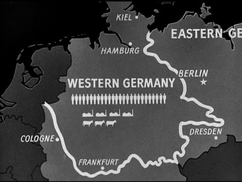 map political commentator sumner welles proposed division of germany into three 'states' western area eastern area - commentator stock videos & royalty-free footage