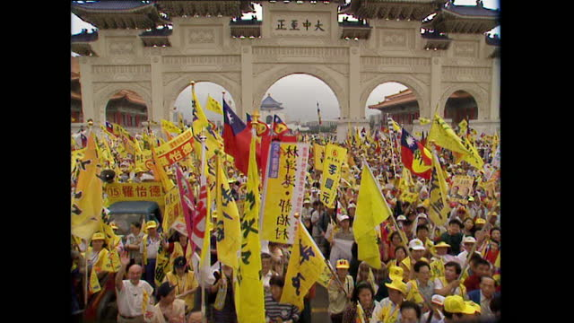 political rally for first presidential election in taiwan; 1996 - 1996 stock videos & royalty-free footage