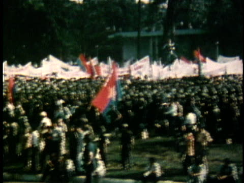political rally in celebration of the unification of north and south vietnam / - south vietnam stock videos & royalty-free footage