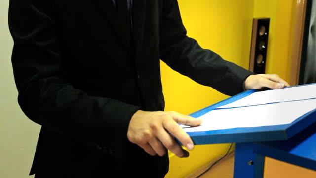 politician interview - spokesman stock videos & royalty-free footage