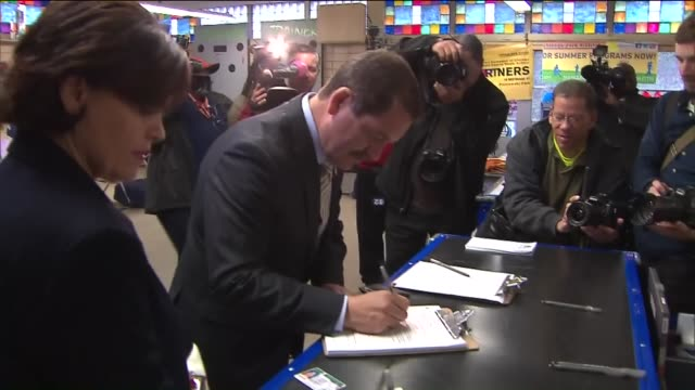 wgn politician jesús chuy garcía voting on april 2 2015 garcia entered the mayoral race against incumbent mayor rahm emanuel - jesús garcía politician stock videos and b-roll footage