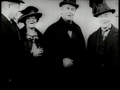 politician william jennings bryan smiles and takes off his top hat - william jennings bryan stock videos & royalty-free footage