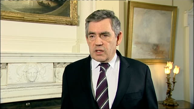 politicians, former diplomats and friends reaction to barack obama's election win; gordon brown interview continued sot - it signals people of... - co ordination stock videos & royalty-free footage