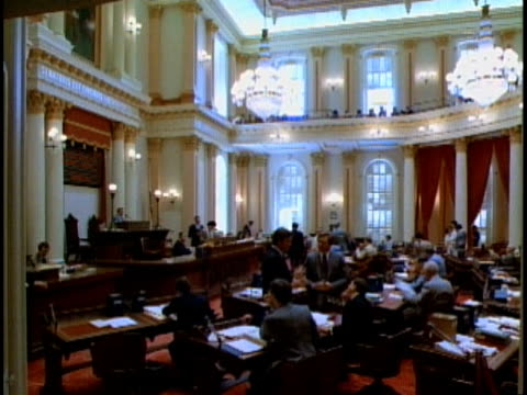politicians gathering in california state senate chamber / sacramento california usa - united states senate stock videos & royalty-free footage