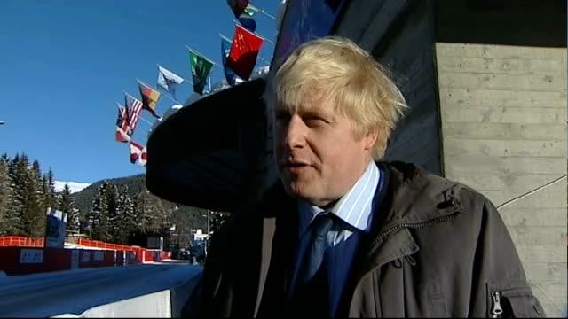Politicians lobbying for Twitter European Headquarters SWITZERLAND Davos EXT Boris Johnson interview SOT