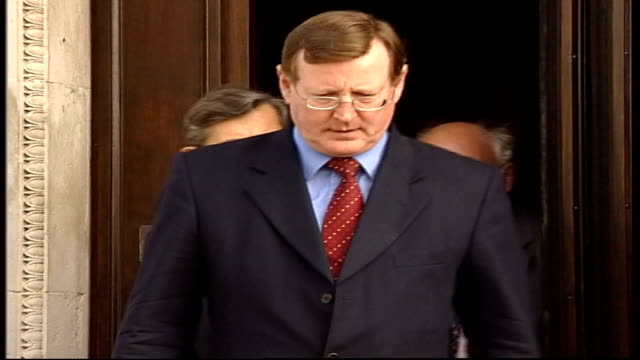 politics: alleged ira spy in government; david trimble and others outside to mikes tx 5.10.2002/13.00 - politics and government stock videos & royalty-free footage