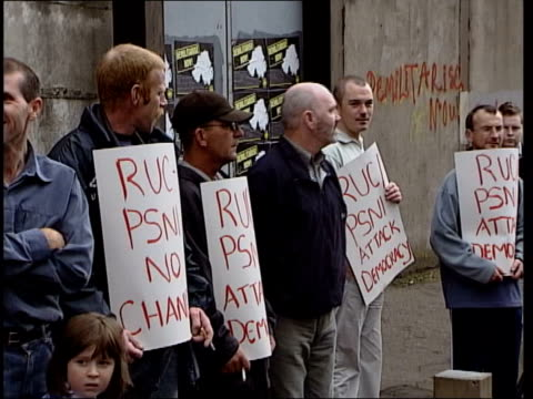 Politics Alleged IRA spy in government ITN Sinn Fein supporters picketing police stations in the province in protst at the police raid on the parties...