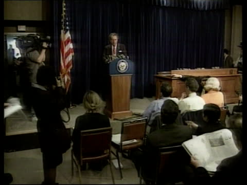 clinton impeachment approaching conclusion; us pool usa: washington int floor of the senate chamber various senators to podium for press conferences - senate stock videos & royalty-free footage