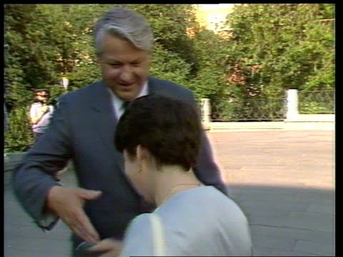 communist party conference day 4 yeltsin signing autograph and getting into car - communist party stock videos and b-roll footage