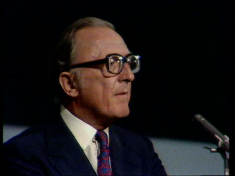 Conservative Party Conference c Lord Carrington winds up the debate on devolution and anti government proposals ENGLAND Brightoon Lord Carrington SOF...