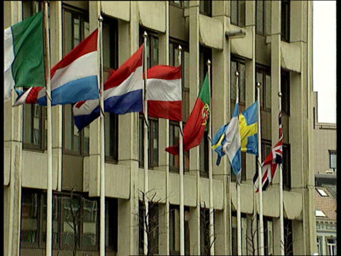 euriopean union: fraud report; lib belgium: brussels: ext exteriors of european commission building - brussels capital region stock videos & royalty-free footage