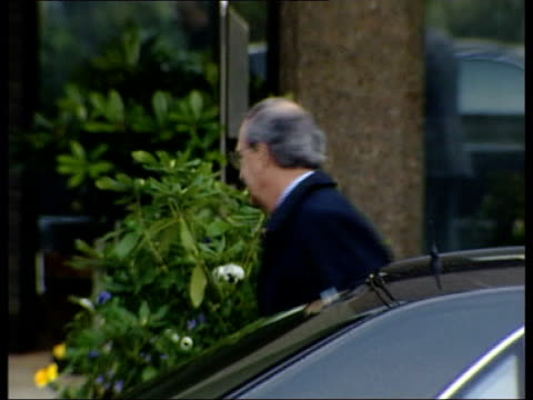 politics good friday agreement review itn northern ireland belfast stormont good friday agreement review chairman senator george mitchell from car... - gerry adams stock videos and b-roll footage