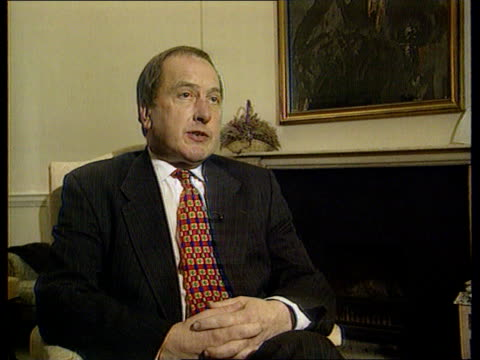 government annual report; lib england: london: int ron davies mp interview sot - i was involved in an incident last night when i was victim of crime,... - politics and government stock videos & royalty-free footage