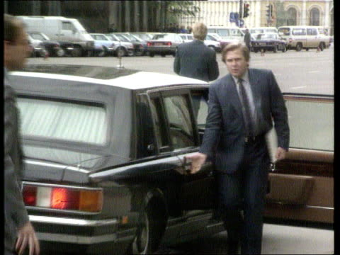Human Rights conference RUSSIA Moscow LMS Mikhail Gorbachev's car door opened ZOOM IN as steps out walks along LR