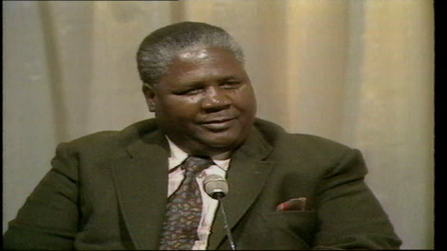 politics joshua nkomo interview b nkomo interview england london itn studio nkomo sof no what differences do you mean work of the conference - joshua nkomo stock videos & royalty-free footage
