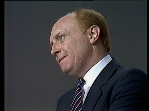 stockvideo's en b-roll-footage met labour party conference da 3 england bournemouth speech sof that is a task for us tbv delegates in hall listening in a democracy tgv platform... - neil kinnock