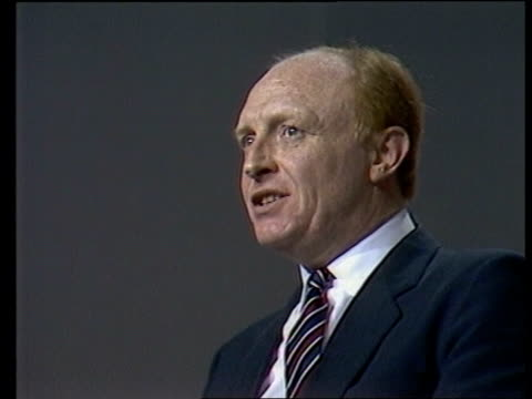 labour party conference day 3 england bournemouth speech sof we want to honour cut out tbv delegates in hall listening that is the precondition cms... - 1985 stock-videos und b-roll-filmmaterial