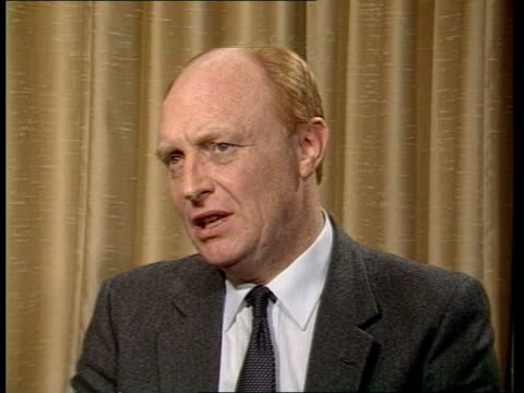 labour party conference day 4 england blackpool interview with neil kinnock labour party leadersof talks about vote in nuclear power debate on... - 労働党点の映像素材/bロール