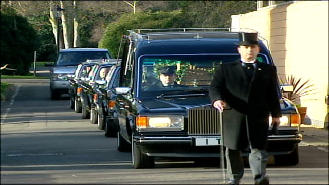 lord tony banks funeral england east london stratford funeral cortege of lord stratford towards - tony banks stock videos & royalty-free footage