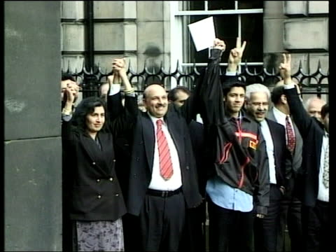 Mohammed Sarwar Cleared of Charges ITN SCOTLAND Glasgow Mohammed Sarwar MP posing outside court after being cleared of charges of perverting the...