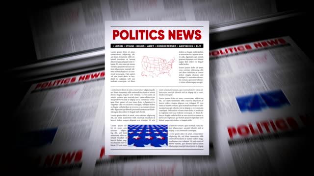 politics news - newspaper headline stock videos & royalty-free footage