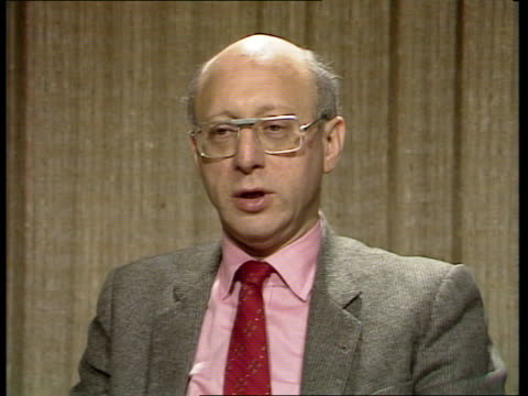"""strike; england, london, westminster gerald kaufman interview sof """"what we were saying -- police in this way."""" - gerald kaufman stock videos & royalty-free footage"""
