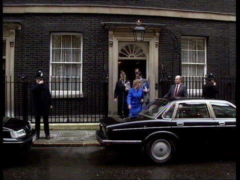 Northern Ireland Dirty Tricks Controversy **** FOR ENGLAD London Whitehall PM Margaret Thatcher out of No 10