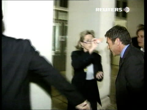 rise of the right reuters austria vienna jorg haider along thru press into building pan haider along into press room and greets woman cms haider... - reuters stock videos & royalty-free footage