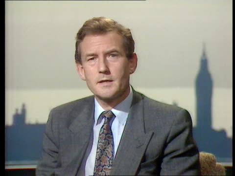 politics: sinn fein broadcasting ban; c4n: northern ireland: politics: sinn fein broadcasting ban; ext creggan gv rooftops int england, london,... - michael barry stock videos & royalty-free footage