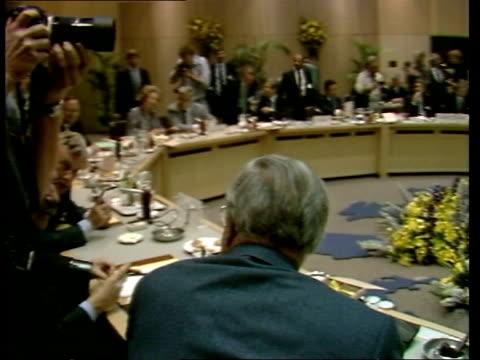 Sir Geoffrey Howe interview ITN Sir Geoffrey and Mrs Margaret Thatcher at The Hague last Friday