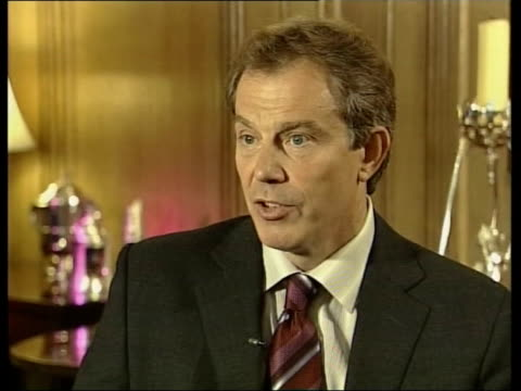 tony blair meets vladimr putin over iraq itn england london tony blair mp interviewed sot there'll be all sorts of interests that countries have key... - disarmament stock videos and b-roll footage