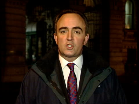 Al Jazeera in Laden tape/ US terror threat/ NATO crisis ITN ENGLAND London Foreign Office i/c