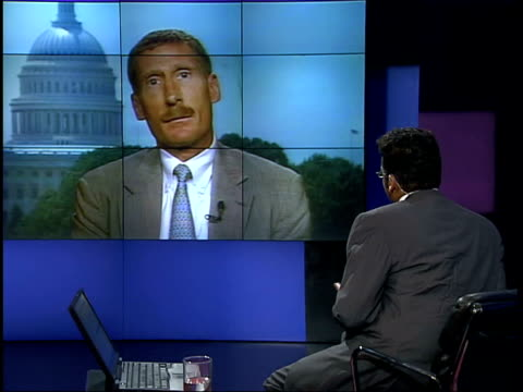 saddam hussein invites chief weapons inspector to visit itn usa washington dc charles duelfer interviewed sot i think it's a continuing political... - inspector stock videos & royalty-free footage