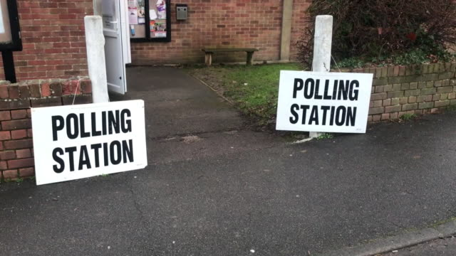 polling stations around the uk before the 2019 general election - voting stock videos & royalty-free footage