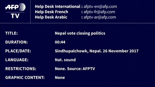 polling stations closed in sindhupalchowk district as nepalis across the country's mountainous north voted sunday in the first round of elections... - maoism stock videos & royalty-free footage