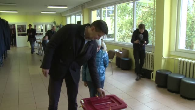 vídeos de stock, filmes e b-roll de polling stations in latvia open for a general election that could propel a populist pro kremlin coalition to power as the baltic state celebrates the... - prime minister