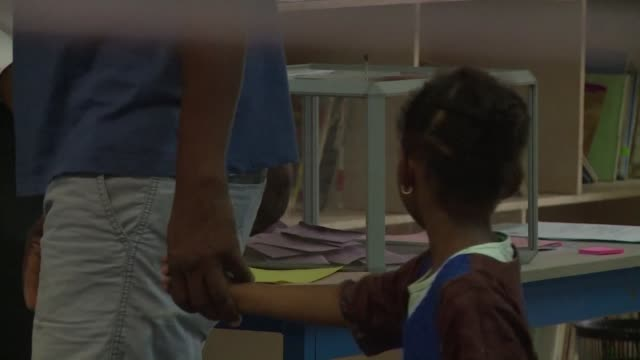 vídeos de stock e filmes b-roll de polling stations open in mayotte where the people have been called to the polls for a by election organised amid a strong social crisis that has... - territórios ultramarinos franceses