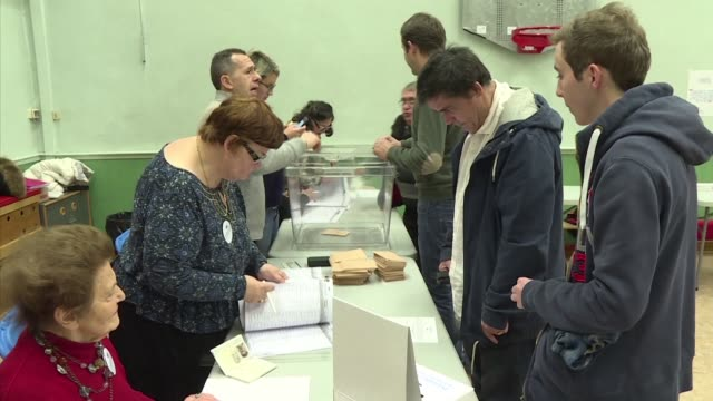 polling stations opened their doors to french voters on sunday morning for the first round of the centre right primaries amid doubts over ex... - french doors stock videos and b-roll footage
