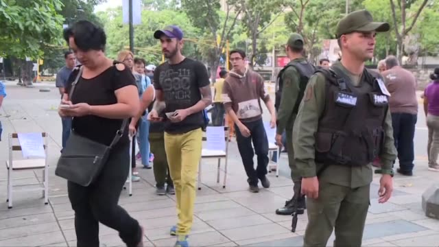 polls have opened in venezuela for the election of a new all powerful constituent assembly that president nicolas maduro promises will end his... - maduro stock videos & royalty-free footage