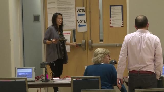 polls officially close in the state of virginia in the us midterm elections - virginia us state stock videos and b-roll footage