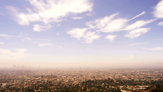 polluted los angeles, time lapse. - wide stock videos & royalty-free footage