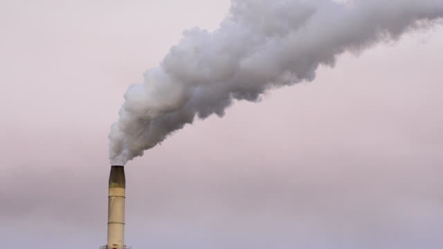 polluting smoke stack from industrial smelter - coal stock videos & royalty-free footage